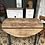 Thumbnail: Table ronde à rabats papillon 112cm