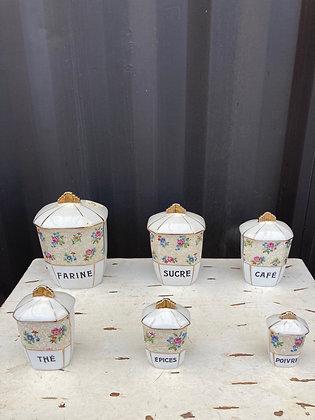 Ensembles de pots en porcelaine