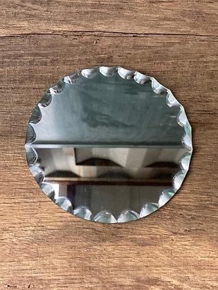 Petit miroir ciselé 12cm rond
