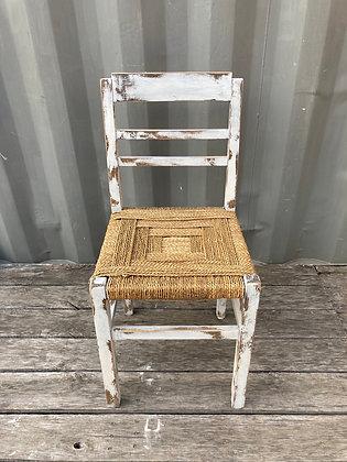 Chaise bohème en bois et tressage