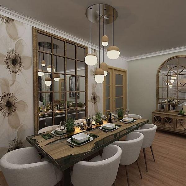 #diningroom #diningtable #mirrordesign #