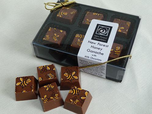 New Forest Honey Ganache Milk Chocolate Cubes