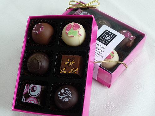 Individual chocolate selection, 6 piece box