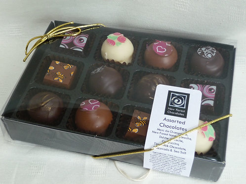Individual chocolate selection, 12 piece box