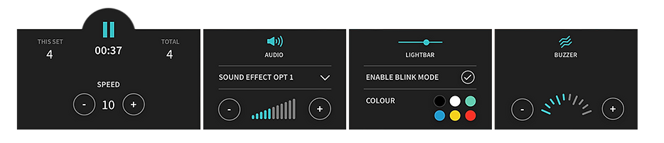 Online EMDR console controls
