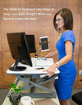 buy purchase choose how to guide comparision retractable keyboard tray big large ample wide deep movable slide in out slidable pull out push in keep back straight rais lower lift move trendesk model e-1 ergonomic bad good posture rest hand