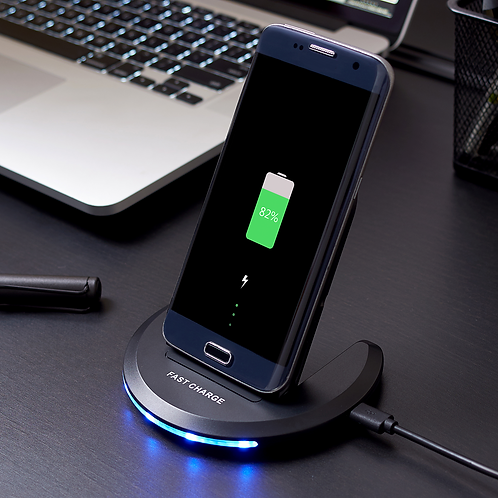 Wireless Charger, Adjustable Position, Fast Charge