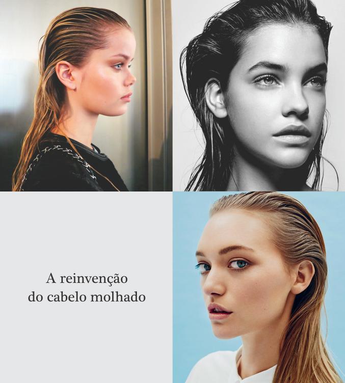 A reinvenção do cabelo molhado