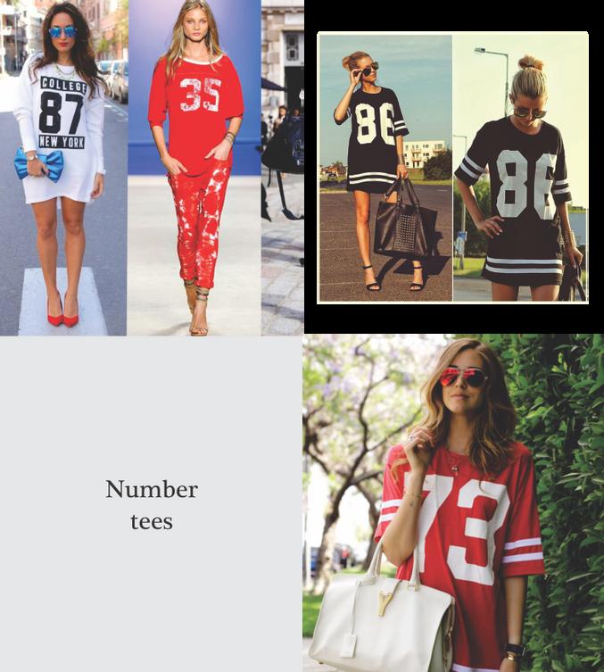 Number tees
