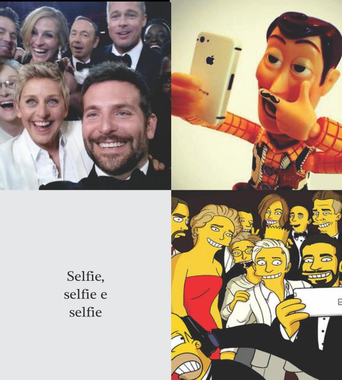 Selfie, selfie e selfie