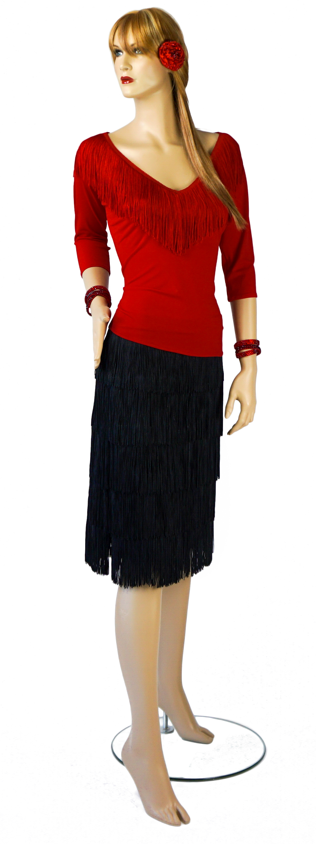 Top-$135 Fringe Skirt-$220