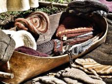 Aus einem Span hergestellter Korb zum aussäen