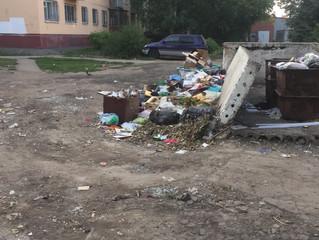 Дворы Омска утопают в мусоре