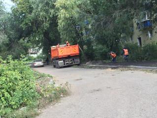 Благодаря омскому депутату Гомолко на улице Волховстроя сделают тротуар