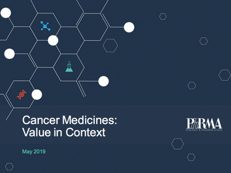 Cancer Medicines Value in Context: PhRMA Report May 2019 - A slide resource kit
