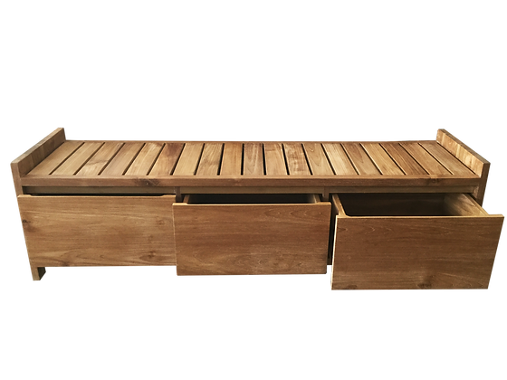 ALLON bench with drawer