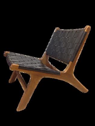 BLACK-BELT LEATHER lounge chair