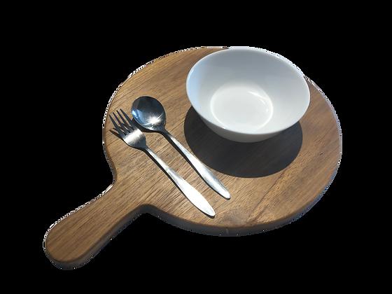 RONDJE wood plate