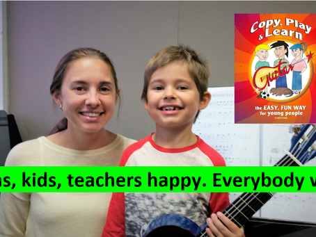 Mums, kids, teachers happy. Everybody wins. Guitar lesson and tutorial No.25