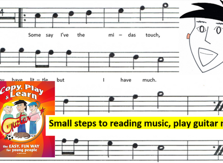 Play Guitar Now! Small steps to reading music