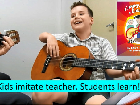 Kids imitate teacher. Students learn! Lesson + tutorial 27