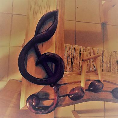 Houslový klíč - mahagon