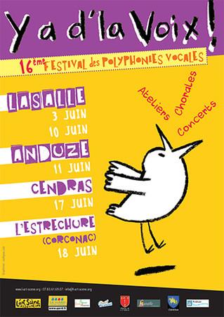 L'affiche pour le festival Y a d'la voix !