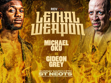 March 8th - St. Neots - MICHAEL OKU vs GIDEON GREY - Priory Centre