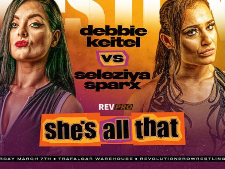 7th March - Sheffield - DEBBIE KEITEL vs SELEZIYA SPARX - Trafalgar Warehouse