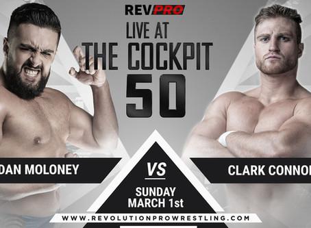 March 1st - London - DAN MOLONEY vs CLARK CONNORS - Cockpit Theatre