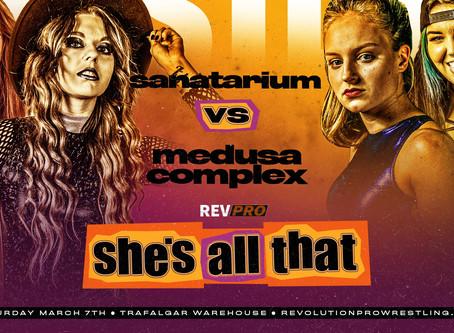 March 7th - Sheffield - SANATARIUM vs MEDUSA COMPLEX - Trafalgar Warehouse