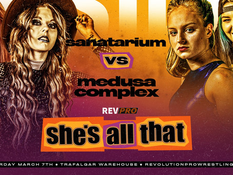 March 7th - Sheffield - SANATARIUM vs MEDUSA COMPLEX - Trafalgar Warehouse