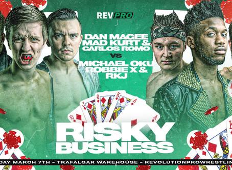 Sheffield - March 7th - MAGEE, MAD KURT & ROMO vs RKJ, OKU & ROBBIE X - Trafalgar Warehouse