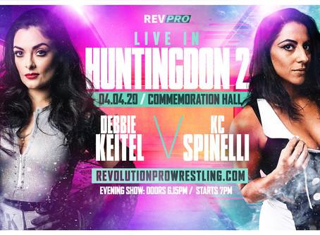 April 4th - Huntingdon - DEBBIE KEITEL vs KC SPINELLI - Commemoration Hall