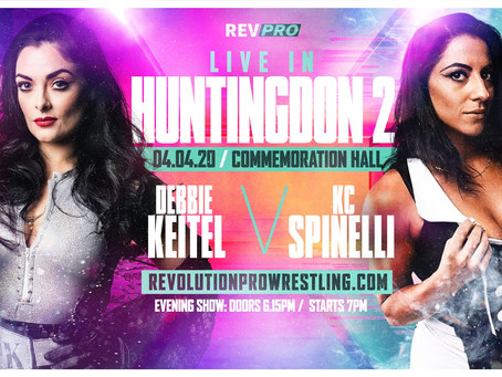 April 4th - Huntingdon - DEBBIE KEITEL vs KC SPINELLI - Commemoration Hall
