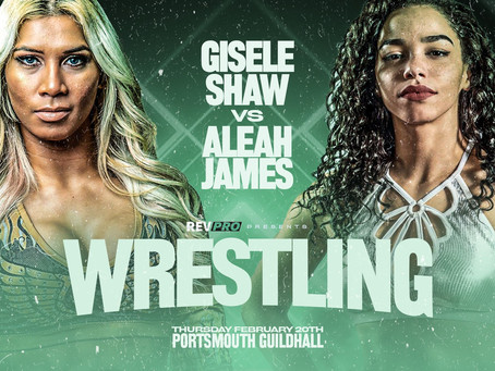 Feb 20th - Portsmouth Guildhall - GISELE SHAW vs ALEAH JAMES