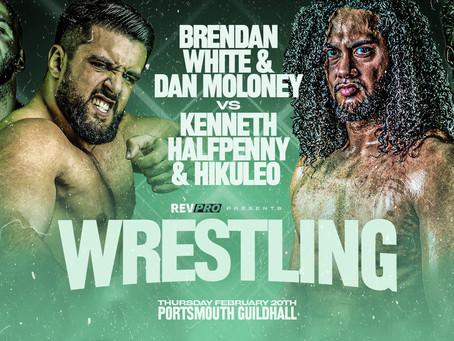 Feb 20th - Portsmouth - BRENDAN WHITE & DAN MOLONEY vs HIKULEO & KENNETH HALFPENNY
