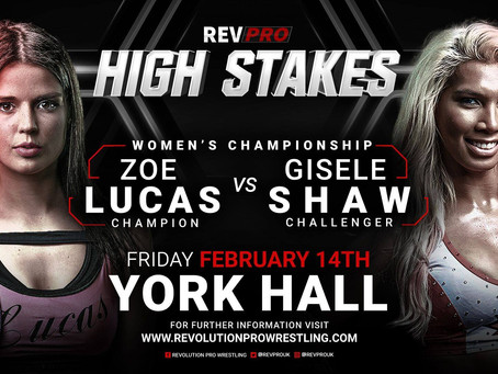 Feb 14th - York Hall - ZOE LUCAS (c) vs. GISELE SHAW - Undisputed British Women's Championship Match
