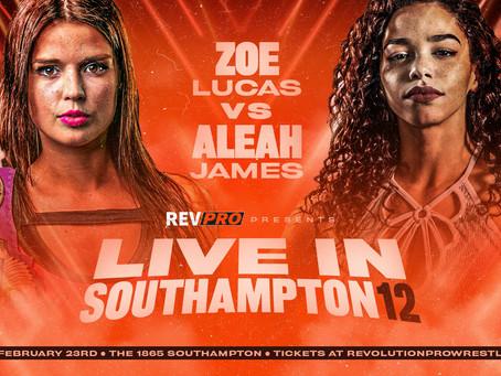 Feb 23rd - The 1865 - ZOE LUCAS vs ALEAH JAMES - Live in Southampton 12