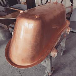 A cooper bathtub. Copper might be a diff