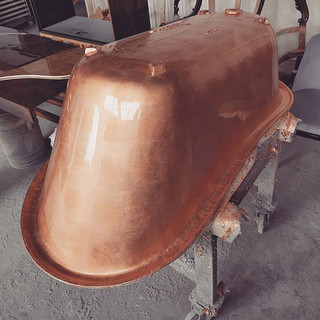 A cooper bathtub. Copper might be a diff