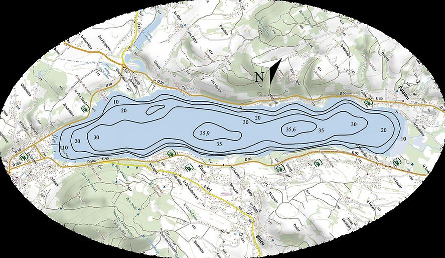 situation du lac de Paladru