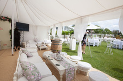 An easy way to theme up our seasonal Champagne Lawn Marquee