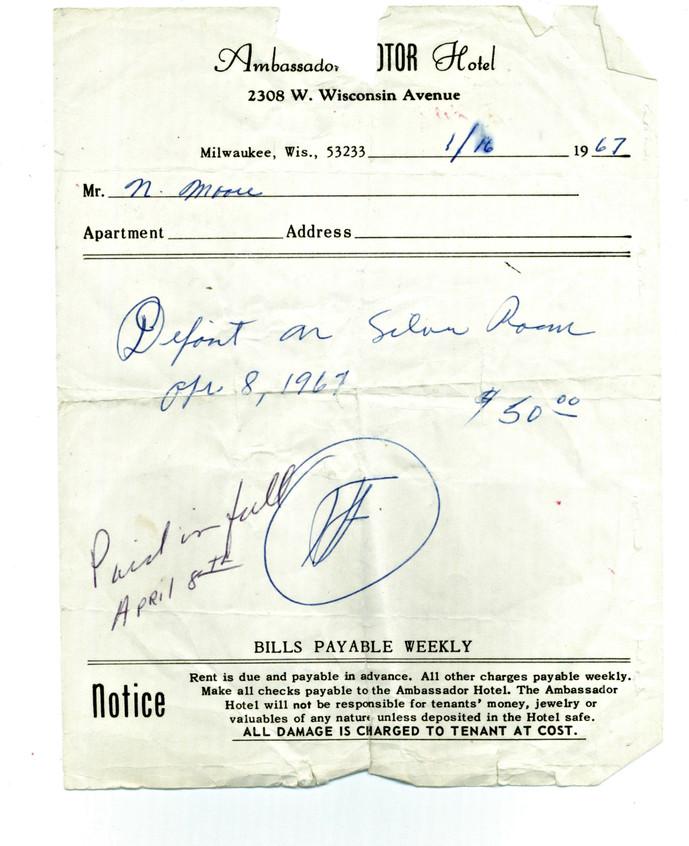 Moore 1967 Receipt