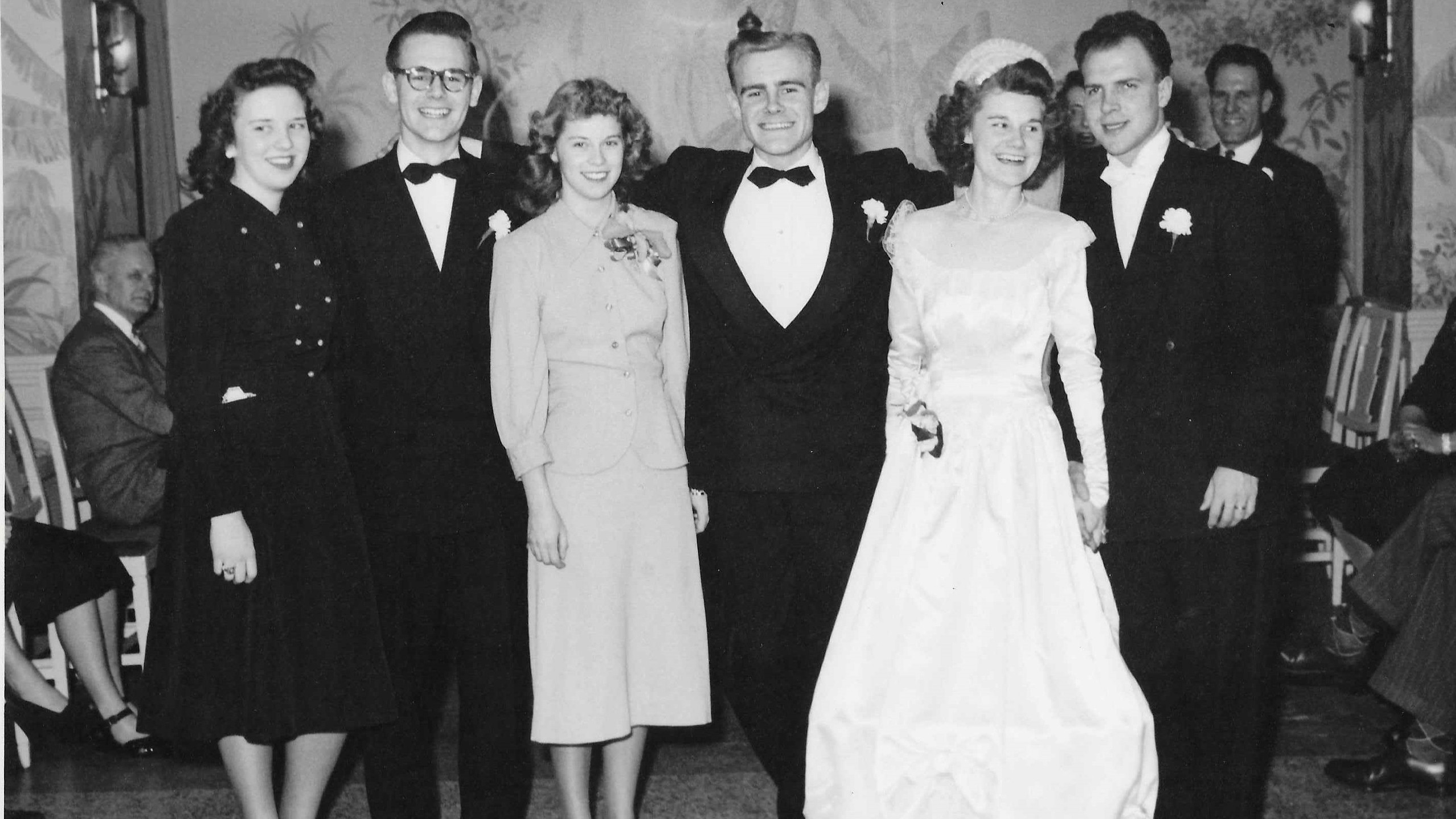John and Bernice Stiner Wedding Party at