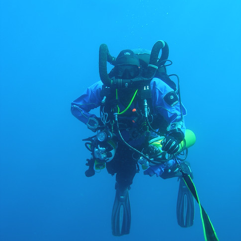 Founder, Iain Grohmann diving in the Isles of Scilly
