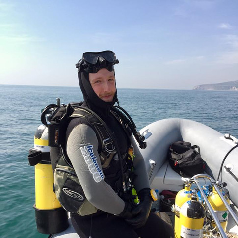 Summer dive off the RIB