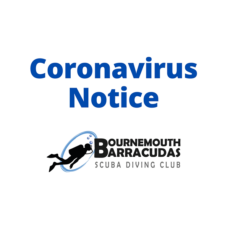 ALL pool sessions have been cancelled pending Coronavirus situation