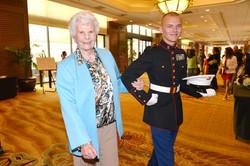 Corky Larson & ROTC Escort