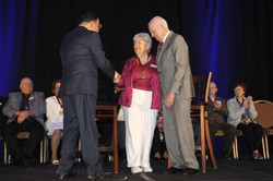 Elizabeth Demyanek and Evans_handshake